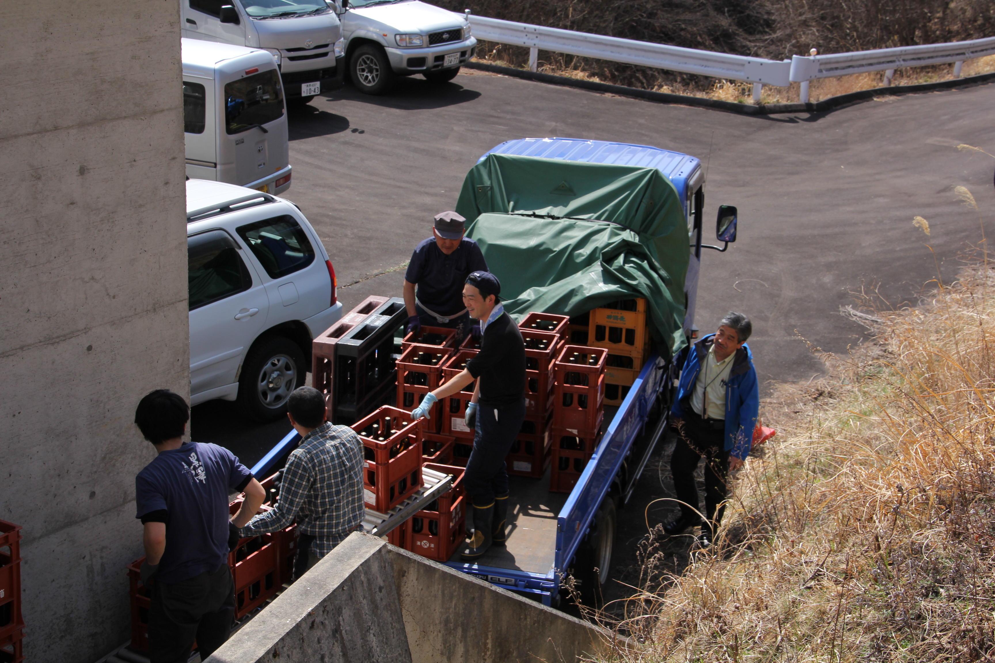 古谷ダム・余地ダムで日本酒の貯蔵実験が始まりました